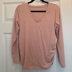 Blush Pink Maternity Shirt Medium